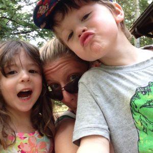 Amy Share et ses enfants