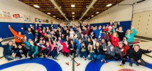 K4K raising fund event at the Sorel-Tracy Curling club, 2016